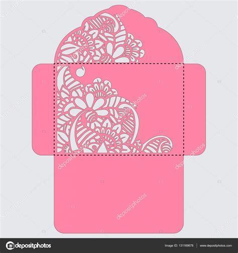 Lasercut vector wedding invitation template. Wedding
