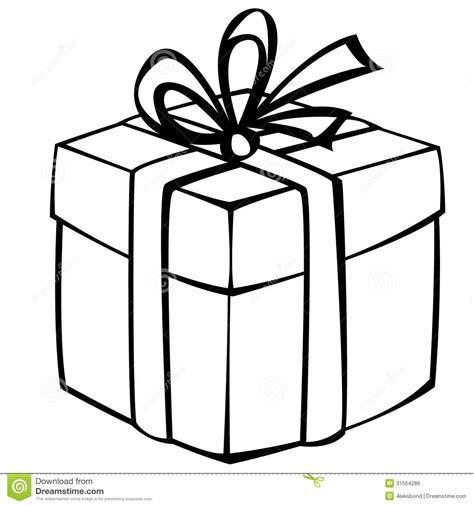 gift box isolated  white stock vector illustration