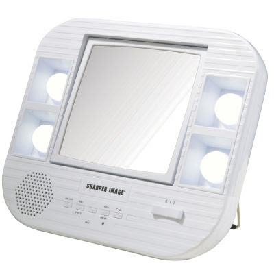 Sharper Image J1025 Lighted Makeup Mirror With Bluetooth J1025