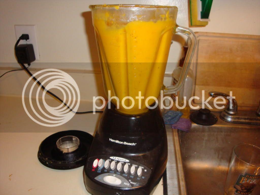 Soup in blender