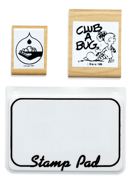 Handwash and Club A Bug Stamps including InkPad