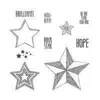 Be The Star Wood-Mount Stamp Set