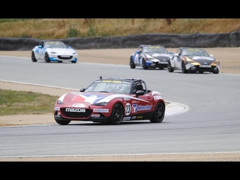 iRacing at Laguna Seca Circuit using Mazda MX-5