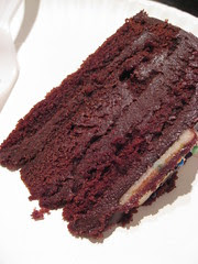 Cross section of the Chocolate Devils Food cake