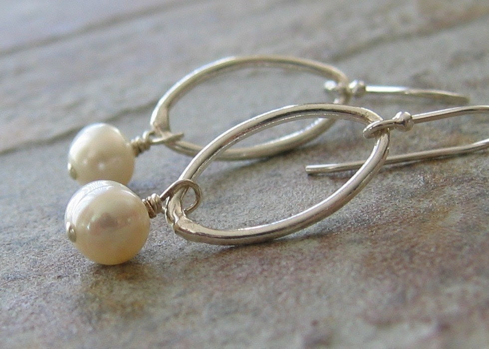 Sterling Ovals and Pearls