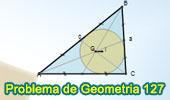 Problema de Geometría 127. Triangulo, Incentro, Baricentro, Líneas Paralelas, Proporciones, Semejanza..