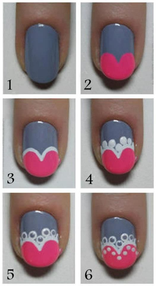 Cute Nail Art Tutorial - Head over to Pampadour.com for more fun and cute nail art designs