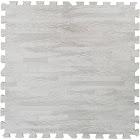 Clevr 100 sqft Eva White Wood Grain Foam Mat Interlocking Flooring 2'x2' 25pcs