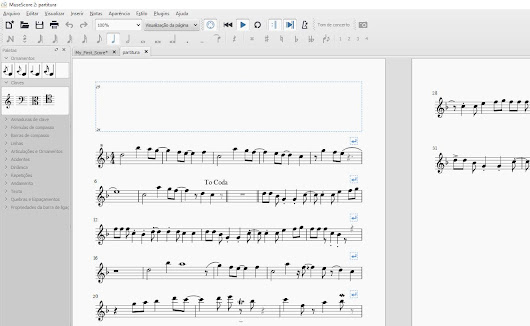 Transformando una partitura en papel en un archivo de música