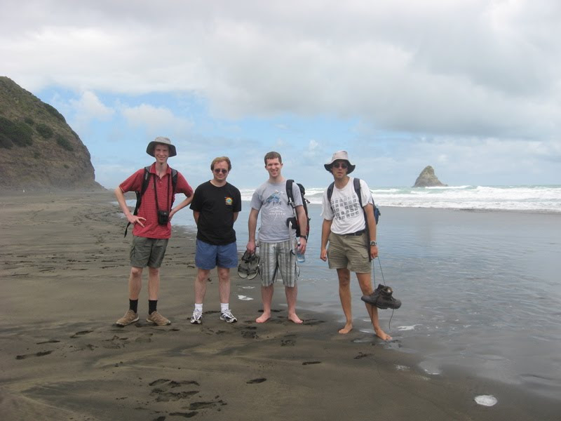 Mozilla people at Karekare beach