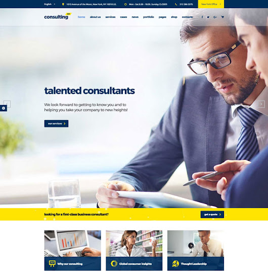 Consulting - Business and Finance Consulting Firms Wordpress Theme Review - DesignMaz