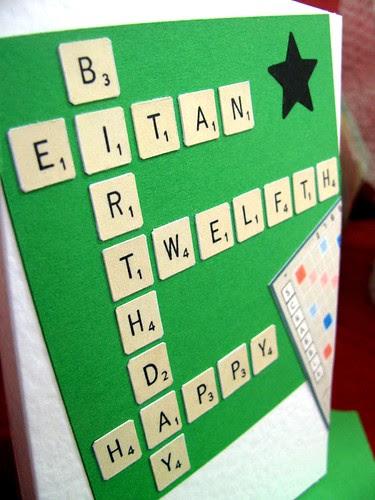 Papercut Scrabble Card