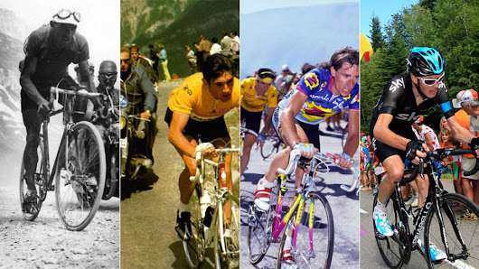 100 Years of Tour de France Bikes Map the Evolution of Cycling