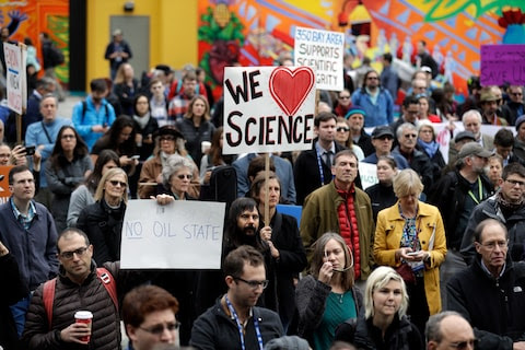 Are scientists going to march on Washington?