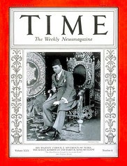 King Farouk on the cover of the time for the first time