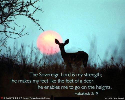 Inspirational illustration of Habakkuk 3:19