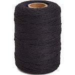 "200 yards Cotton Black Twine String 0.8"" for DIY Art & Crafts Gift Packing Gardening"