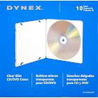Dynex Clear Slim CD/DVD Cases 10 Pack