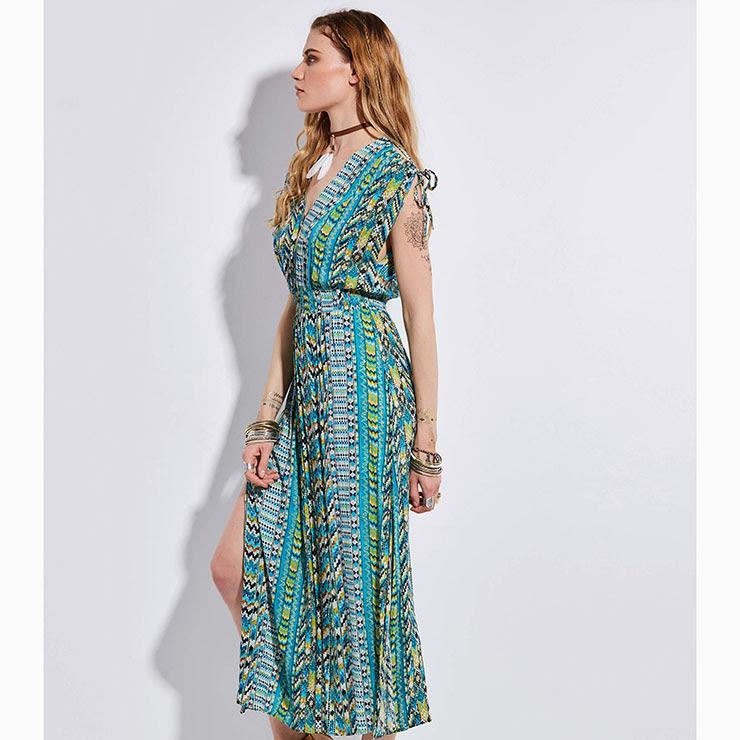 Canada shop Cape Sleeve Front Slit Navy Blue Sheath Dress for men