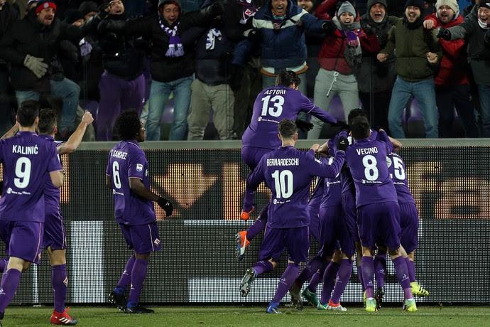 comemoração, Fiorentina x Juventus (Foto: Gabriele Maltinti/Getty Images)