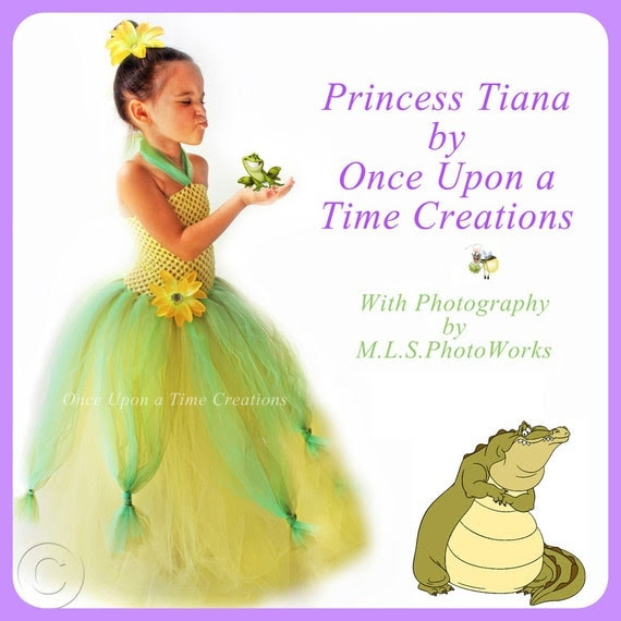Ready To Ship - Tiana Inspired Princess Tutu Dress - Halloween Costume - 12M 2T 3T 4T 5T - Disney Princess and the Frog Inspired