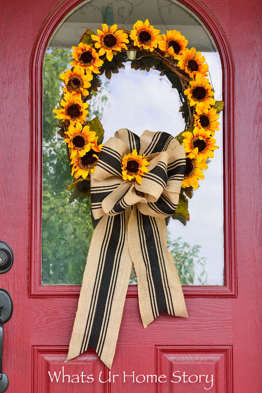 Sunflower Wreath DIY - Whats Ur Home Story