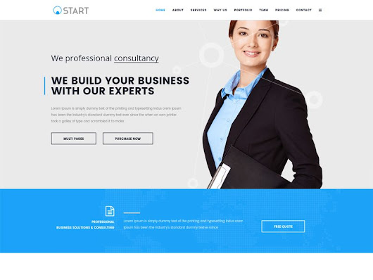 Start Free Joomla Business Template