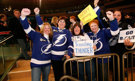 Tampa Bay Lightning Fan Support Stretches Beyond Home Games