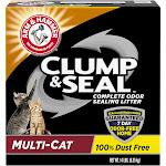 Arm & Hammer Clump & Seal Litter, Complete Odor Sealing, Multi-Cat - 14 lb
