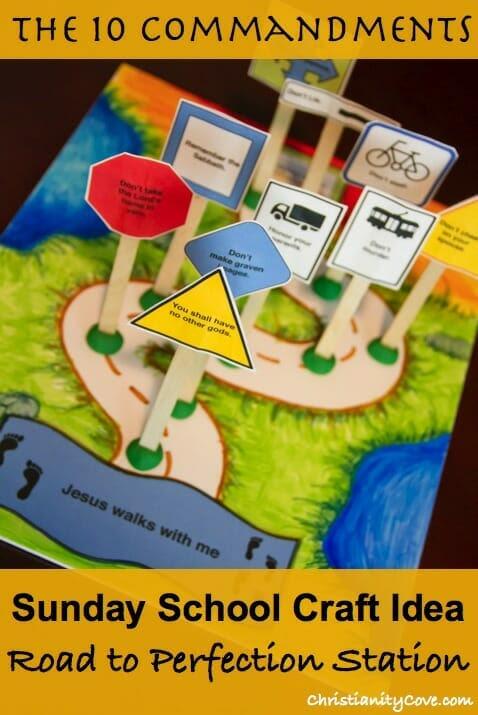 10 Commandments Craft- Perfection Station Sunday School Activity