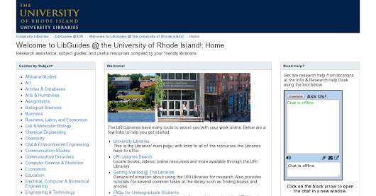 LibGuides @ URI: Welcome to LibGuides @ the University of Rhode Island!: Home