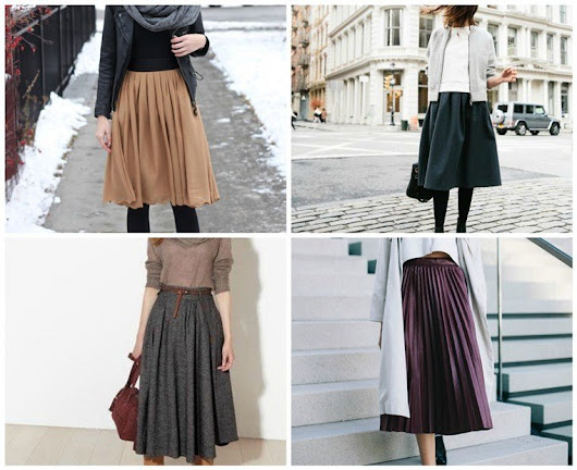 They Are Never Out: Stylish Midi Skirt For Winter | World inside pictures