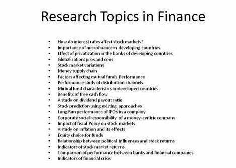 Example of thesis title related to finance resume format for mca freshers free download