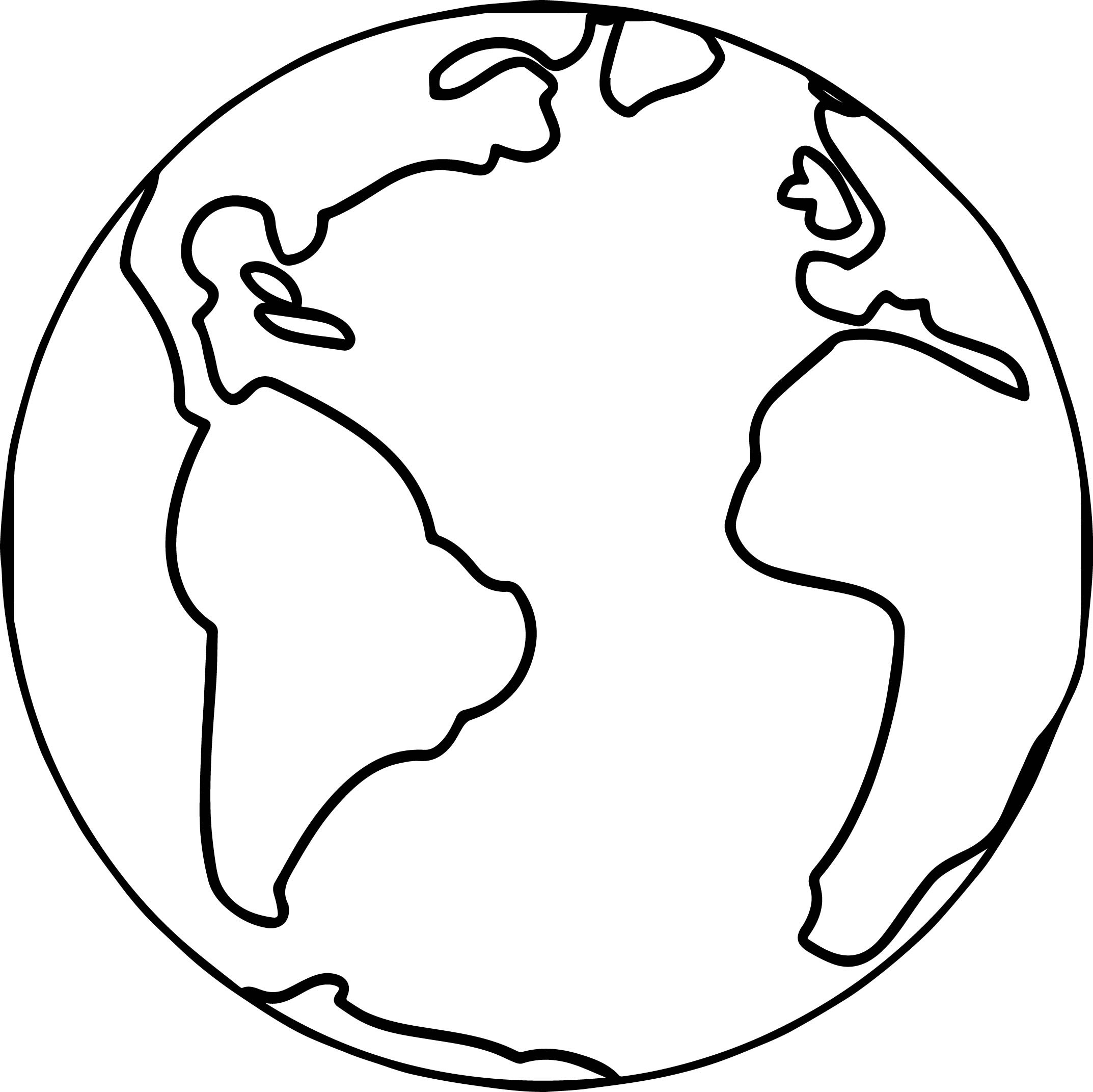 Earth Globe World Coloring Page Wecoloringpage.com - Coloring Pages