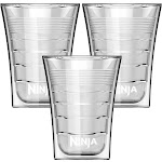 Ninja 14 Oz Microwave Safe Plastic Double Insulated Cup for Coffee Bar (3 Pack) by VM Express