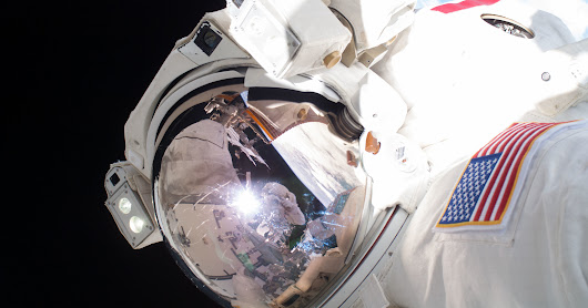 Watch Two Astronauts Repair the ISS in the Dark | WIRED