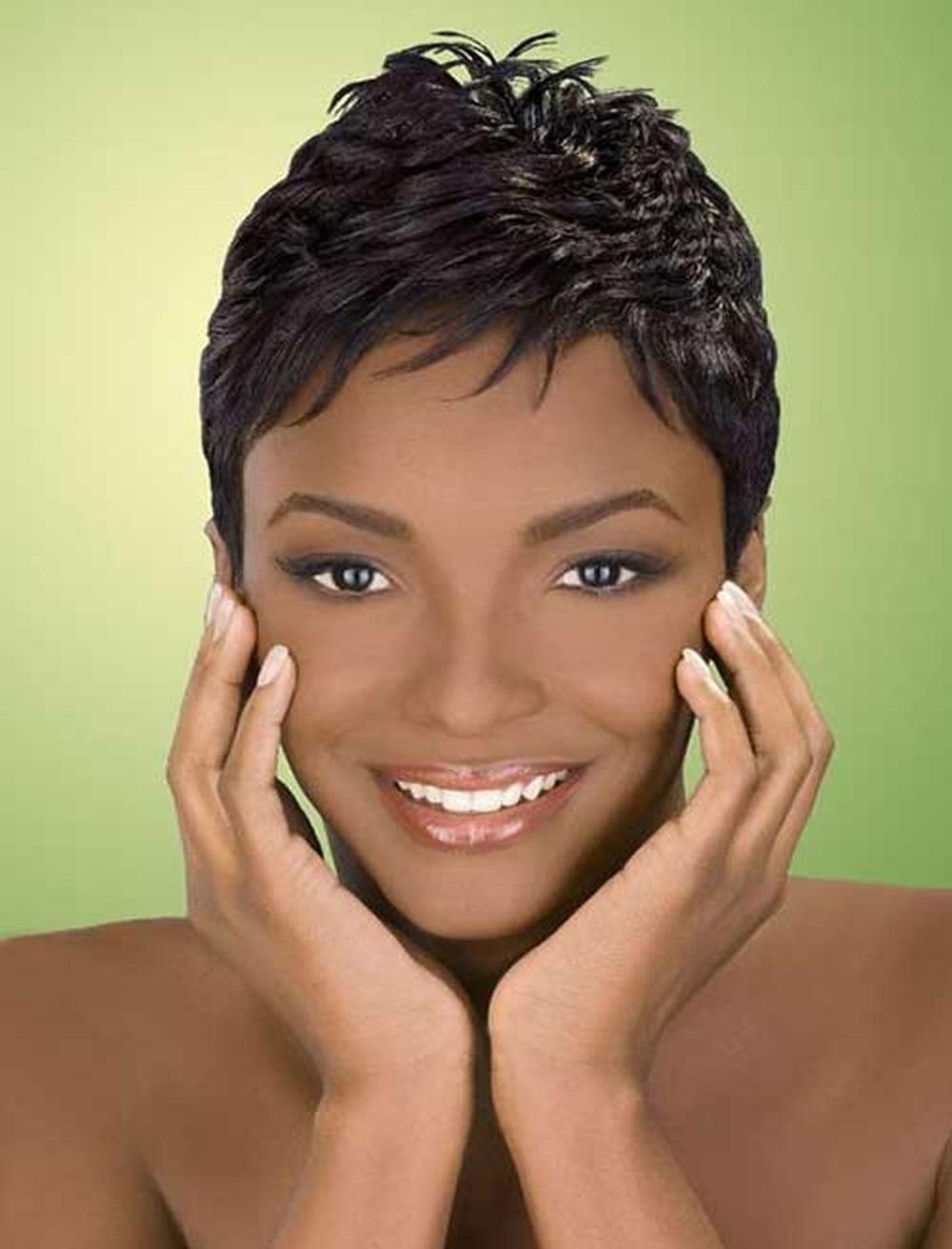 2019 Short  Haircuts  for Black  Women  67 Pixie Short  Black