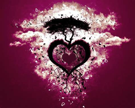purple heart love tree wallpaper stock