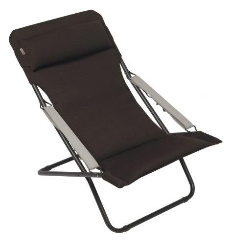 Lafuma transabed xl air comfort marron chaise pliante for Chaise longue lafuma