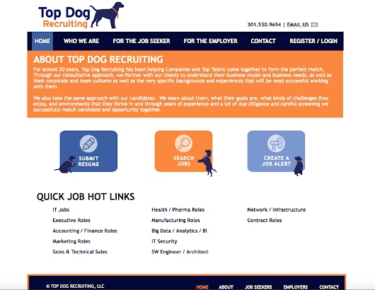 WEBSITE DESIGN: Top Dog Recruiting, LLC - Stevie Caldarola