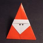 christmas origami santa