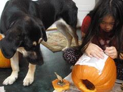Gretel Waiting for Pumpkin Guts