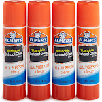 Elmer's School Glue Sticks - 4 pack, 0.24 oz each