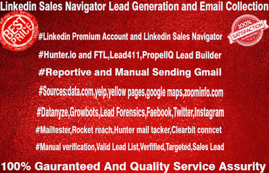 contactdetails : I will do targeted lead generation, b2b lead generation 2000 asap for $10 on www.fiverr.com