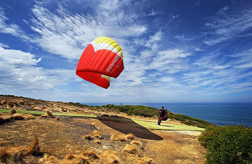 Paraglider at Torquay, Victoria, Australia IMG_5389_Torquay