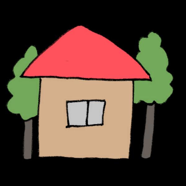 家のイラスト かわいいフリー素材が無料のイラストレイン