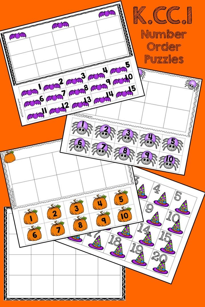 number order, halloween math