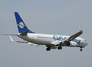 A Eurocypria Airlines Boeing 737-800, named