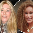 Toning down her feline side: Catwoman Jocelyn Wildenstein goes for a more subdued look on date night