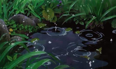 rain anime gif rain anime aesthetic discover share gifs